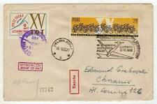 A1152) POLAND GLIDERS 1962 Expr Cover Leszno Kracow