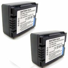 2x Battery for Panasonic CGA-DU06 CGA-DU07 A CGR-DU06 CGR-DU07 VSB0470 VW-VBD070