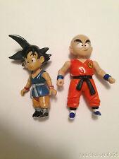Dragonball Z Jakks Metallic Kid Goku and Krillin Figures DBZ