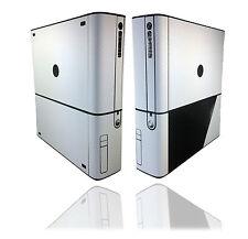 TRAMA CARBONIO BIANCO Pelle Autoadesivo per Xbox 360 e super-SLIM Decalcomania copertura Wrap
