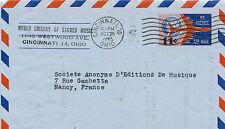 US Air mail Aérogramme Etats Unis Amérique 11 cents Avion années 1960 Cincinnati