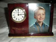Howard Miller Photo and Clock Caddy with Glass Divider and Crystal Glass