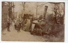 More details for picture postcard of a traction engine accident with coventry postmark (c61052)