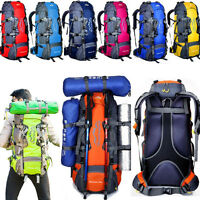 80L Waterproof Outdoor Sport Travel Camping Hiking Backpack Luggage Rucksack Bag