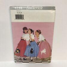 Uncut Butterick Pattern 4114 Misses Costume Petticoat Poodle Skirt Cat Record