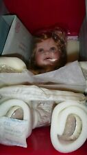 "NRFB Marie Osmond Cream Puff 13"" Seated Porcelain Doll C2496"