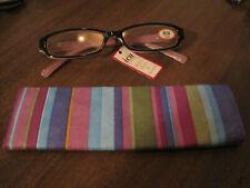 ICU Eyewear Reading Glasses w Case 3.00 black pink and white