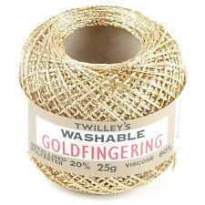 Twilleys Goldfingering 3 Ply Sparkly Yarn. Range of Colours Dark Gold 2