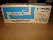 Kyocera OEM TK552C Toner Cartridge GENUINE BRAND NEW CYAN TONER CARTRIDGES