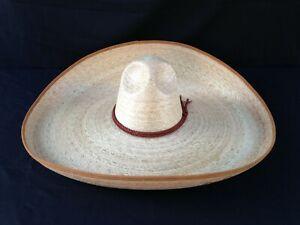 Mexican Hat Charro Straw Size 6 7/8. Sombrero Charro de Palma Verde Talla 55