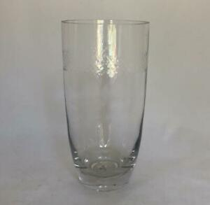 "Vera Wang 8"" Clear Cut Crystal Glass Flower Vase"