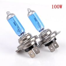 2pcs H7 100W 12V 6000K Xenon Gas Halogen Headlight White Bright Light Lamp Bulbs
