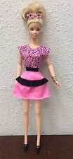 Barbie Doll Outfit Top & Skirt Pink & Black Heels Clubbing Outfit #11