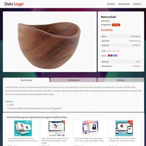 Ebay Template Ebayvorlage 2021 html 8 Modelle Lifetime Responsive Design Vorlage