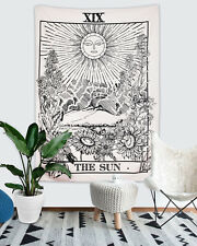 US SHIP Mysterious Tarot Tapestry Wall Hanging The Sun Tapestry for Home Decor