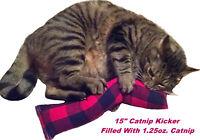 "15"" Flannel Catnip Cat Kicker Toy (Kicker filled with 1 oz Canadian Catnip)"