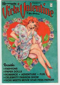 VICKI VALENTINE #1 1985 GOOD GIRL ART PAPER DOLLS FIRST ISSUE NICE!