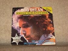"BOB DYLAN knockin on heavens door 7"" VERSIONE REGGAE rare Italian import"
