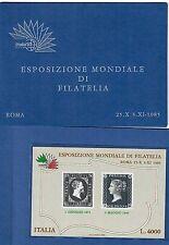 ITALIA 1985 ESPOSIZIONE MONDIALE DI FILATELIA libretto 4000 lire cod.fra.190