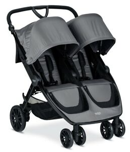 Britax B-Lively Double Stroller - Dove Grey - Brand New Free Shipping!