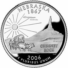 2006 S SILVER GEM PROOF NEBRASKA STATE QUARTER 90% SILVER