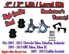 "07 - 13 Chevy Tahoe GMC Yukon 1500 + SUV 4"" / 3"" FULL LIFT KIT 2WD Spindles"