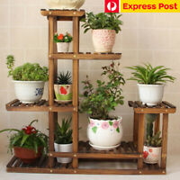 6 Layer Wooden Plant Stand Indoor Outdoor Garden Planter Flower Pot Stand Shelf