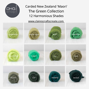 The Green Collection - Carded New Zealand Wool DHG 'Maori' Batts