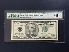 1996 $50 Federal Reserve Note Fr#2126-G* PMG66EPQ Star Note