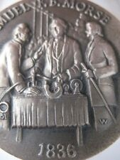 1+ OZ. LONGINES STERLING SILVER 1836 SAMUEL B. MORSE CODE 3D RELIEF COIN+GOLD