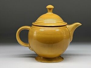 Fiesta Ironstone teapot gold mid 70s.
