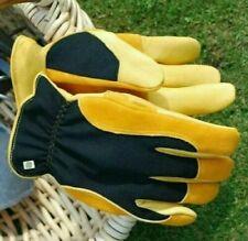LADIES Gold Leaf Winter Touch Garden Gloves  RHS endorsed