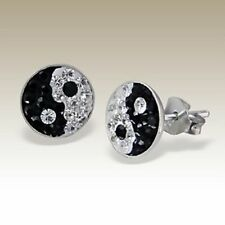 Butterfly Silver Plated Crystal Stud Fashion Earrings