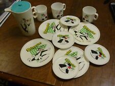 Vintage Sylvester the Cat 1996 Looney Tunes Dish Set/Pitcher/Cups/Plates/Mugs