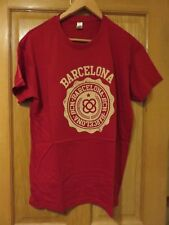 Barcelona T-Shirt by Urban Addict - Red - Size L - NEW in Packet