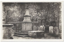 John Wesley's Grave, London - The Epworth Press Real Photograph - Not Posted