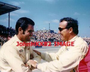 4 TIME INDY 500 WINNERS AJ FOYT & AL UNSER,SR 1970's PHOTO