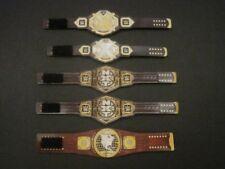 5 NXT Custom Wrestling Figure Belts WWE WWF (Action figure not included)