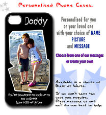 PERSONALISED PHONE CASES any name + design i4 i4s i5 i5s i5c i6 Dad Daddy gifts