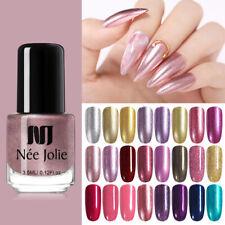 NEE JOLIE 3.5ml Shimmer Nail Polish Glimmer Colorful Pearly Gold Nail Varnish