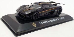 Altaya 1/43 Scale 1911IR - 2014  Koenigsegg One:1 - Black