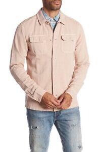 Scotch & Soda Mens Worker Regular Fit Shirt Faded Pink 142557