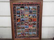 "LARGE 63"" TALL MILITARY KURDISH REBEL 1 OF A KIND 2003 WAR CARPET KURDISTAN RARE"