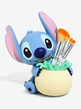 Disney's Stitch Figure Makeup Brush Set Holder, New