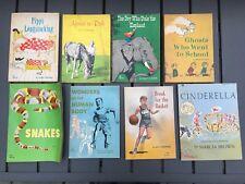 Lot of 8 vintage Scholastic children's paperback books 1960's  school book fair