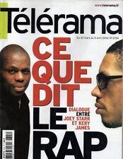 telerama n°2724 joey starr kery james louis joinet octave mirbeau 2002