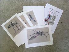 """Carpeta con 4 láminas (tipo litografía). VEHÍCULOS """"STAR WARS"""". Autor: M. Alfaro"""
