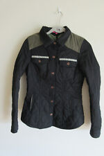 Osley women's quilted black and green jacket size 36