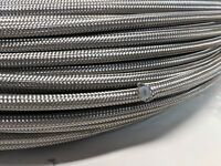 "-3AN 1/8""ID 10' Stainless Steel Braided PTFE Fuel Oil Brake Hose 10 Foot -3 AN3"