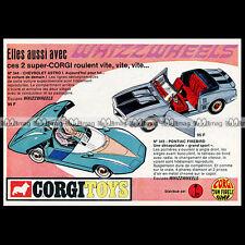 Corgi 343 Pontiac Firebird Reproduction Repro Red Plastic Seat Back